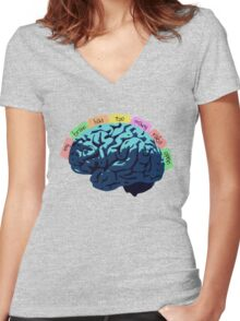 My Brain Has Too Many Tabs Open Women's Fitted V-Neck T-Shirt