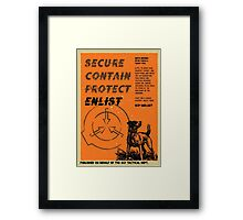 Vintage SCP Containment Team Recruitment  Framed Print