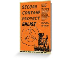 Vintage SCP Containment Team Recruitment  Greeting Card
