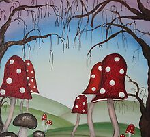 Mystical Mushrooms by Krystyna Spink