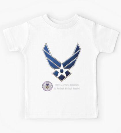 Air Force Remembers for Dark Colors Kids Tee