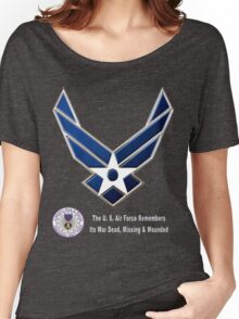 Air Force Remembers for Dark Colors Women's Relaxed Fit T-Shirt