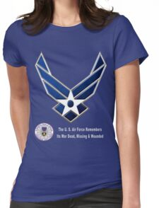 Air Force Remembers for Dark Colors Womens Fitted T-Shirt