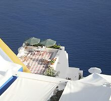 Santorini from above by Pasho