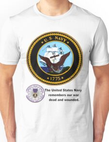 The Navy Remembers Its War Dead Unisex T-Shirt