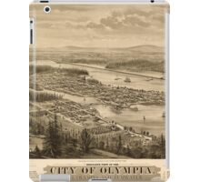 Panoramic Maps Bird's eye view of the city of Olympia East Olympia and Tumwater Puget Sound 1879 iPad Case/Skin