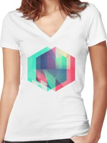 hyx^gyn Women's Fitted V-Neck T-Shirt