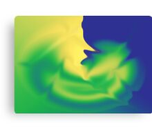 Blue green and yellow Canvas Print