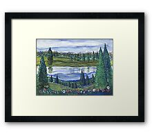 Northwest Reflection Framed Print