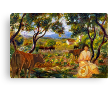 just sittin' in the cow path ...slightly overdressed Canvas Print
