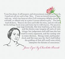 """Jane Eyre quote - """"I can live alone..."""" by bookishwhimsy"""