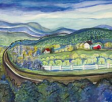 Blue Ridge farm by lorikonkle