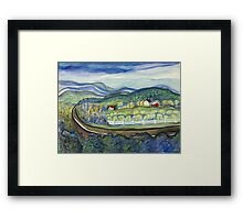 Blue Ridge farm Framed Print