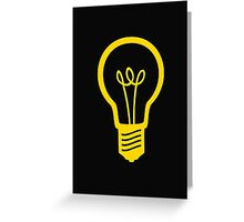 Attention Lightbulb Greeting Card