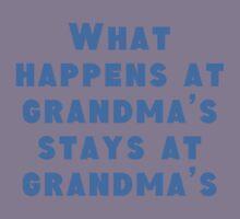 What Happens At Grandma's Kids Tee