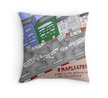 Bianry Options News Cartoon of Maple Spring  Throw Pillow