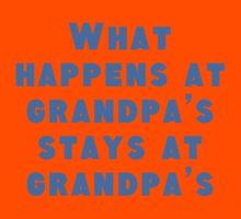 What Happens At Grandpa's Kids Tee