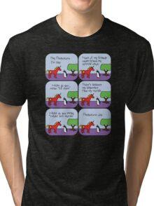 Communicorn's Alignment (Horned Warrior Friends) Tri-blend T-Shirt