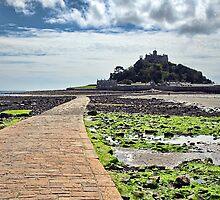 Along The Causeway ~ St Michael's Mount by Susie Peek