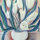 White Tulips by lorikonkle