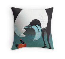 A Very Old Man with Enormous Wings Throw Pillow
