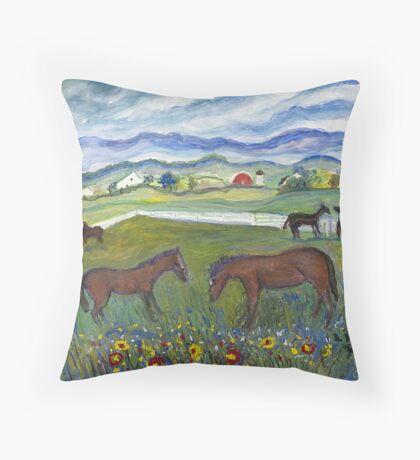 Virginia Summer Throw Pillow