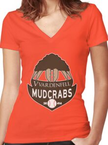 Vvardenfell Mudcrabs Women's Fitted V-Neck T-Shirt