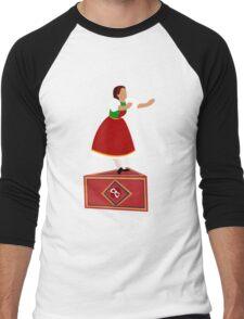 Girl on the music box Men's Baseball ¾ T-Shirt