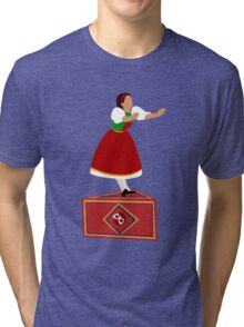 Girl on the music box Tri-blend T-Shirt