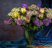 Lilac and Roses - Still Life by Mark Richards