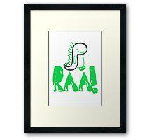 Raa Dinosaur Framed Print