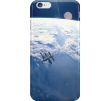 ISS Floating over the Earth iPhone Case/Skin