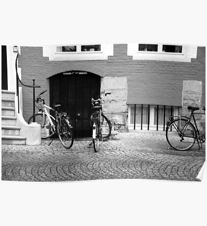 Bikes, windows, doors... Poster