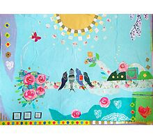 Bird Family Art Collage  Photographic Print