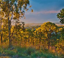 Golden rays over Gladstone Australia by PhotoJoJo