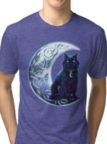 Celtic Black Cat Tri-blend T-Shirt