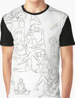 Yoga Asanas - drawing Graphic T-Shirt