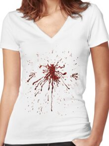 Blood & Bullet wounds Women's Fitted V-Neck T-Shirt