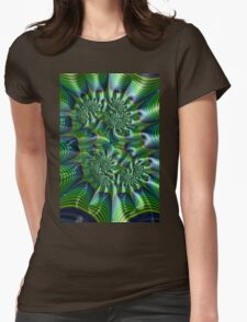 Abstract in Green and Blue Womens Fitted T-Shirt