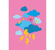 Who Makes the Thunder? - in PINK Photographic Print