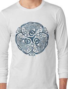 Wolf Celtic Knotwork Long Sleeve T-Shirt