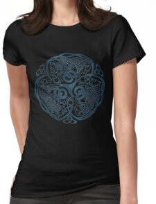 Wolf Celtic Knotwork Womens Fitted T-Shirt