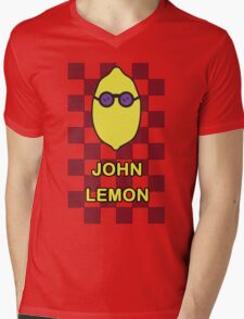 John Lemon | Beatles Soda Mens V-Neck T-Shirt