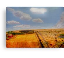 EARLY PIONEER LIFE ON THE PRAIRIES Canvas Print