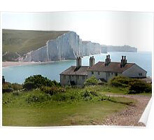 The Seven Sisters, Cuckmere Haven, Sussex, UK Poster