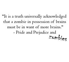Pride and Prejudice and Zombies by ButterfliesT