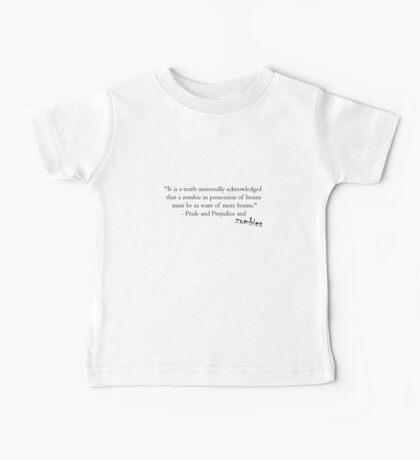 Pride and Prejudice and Zombies Baby Tee