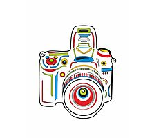 Rainbow Camera Fun Photographic Print