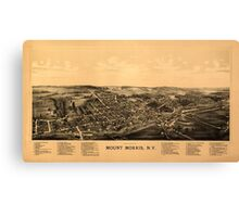 Panoramic Maps Mount Morris NY Canvas Print