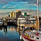 Portsmouth Harbor - Norfolk Skyline by Lightengr